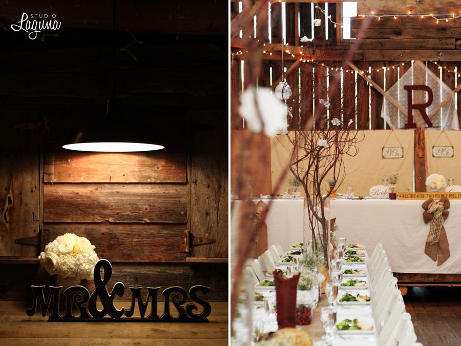 A rustic elegant wedding at The Enchanted Barn.